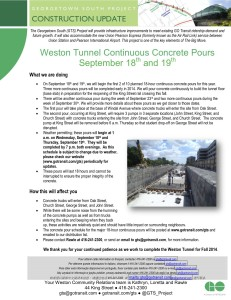 20130911 Weston Tunnel Continuous Concrete Pours_Ver 2_FINAL