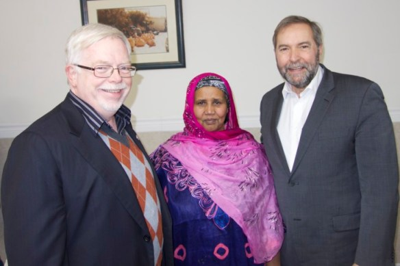 Mike Sullivan, Asha Ahmed, Tom Mulcair.