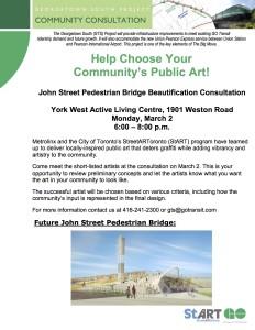 John St. Pedestrian Bridge Art Community Meeting Flyer (1)