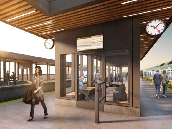 Artist's impression of the new Weston GO Station.