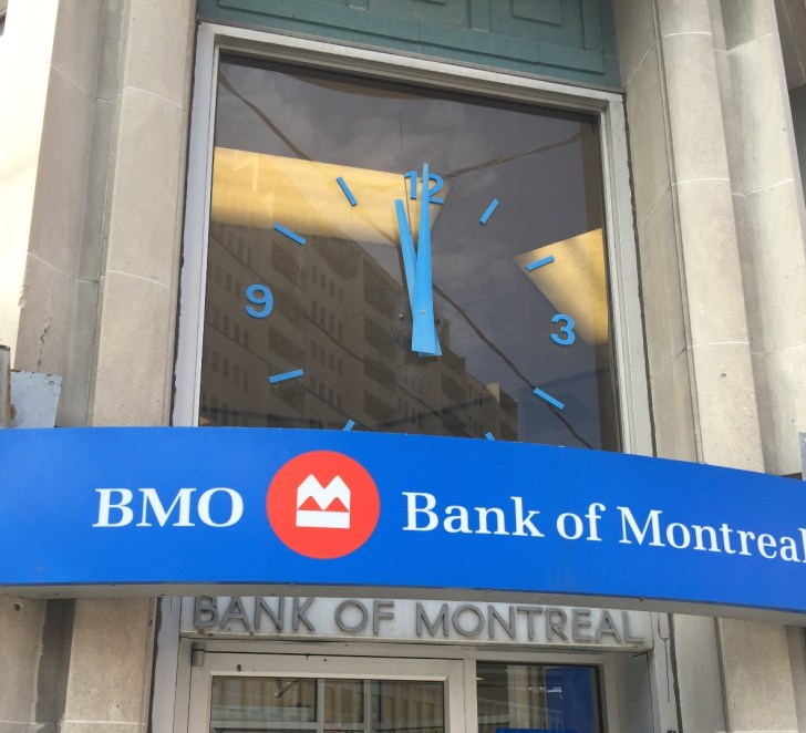 Weston's BMO branch - where time stands still.