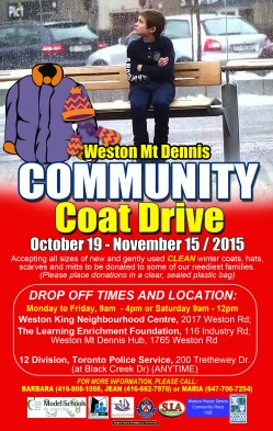 WINTER COAT DRIVE new