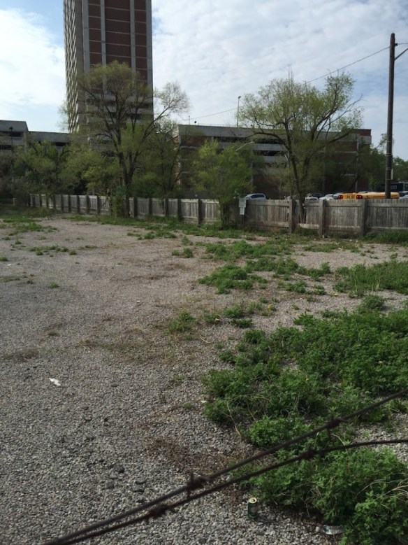 The vacant property that the City has been attempting to expropriate at 14 John Street.