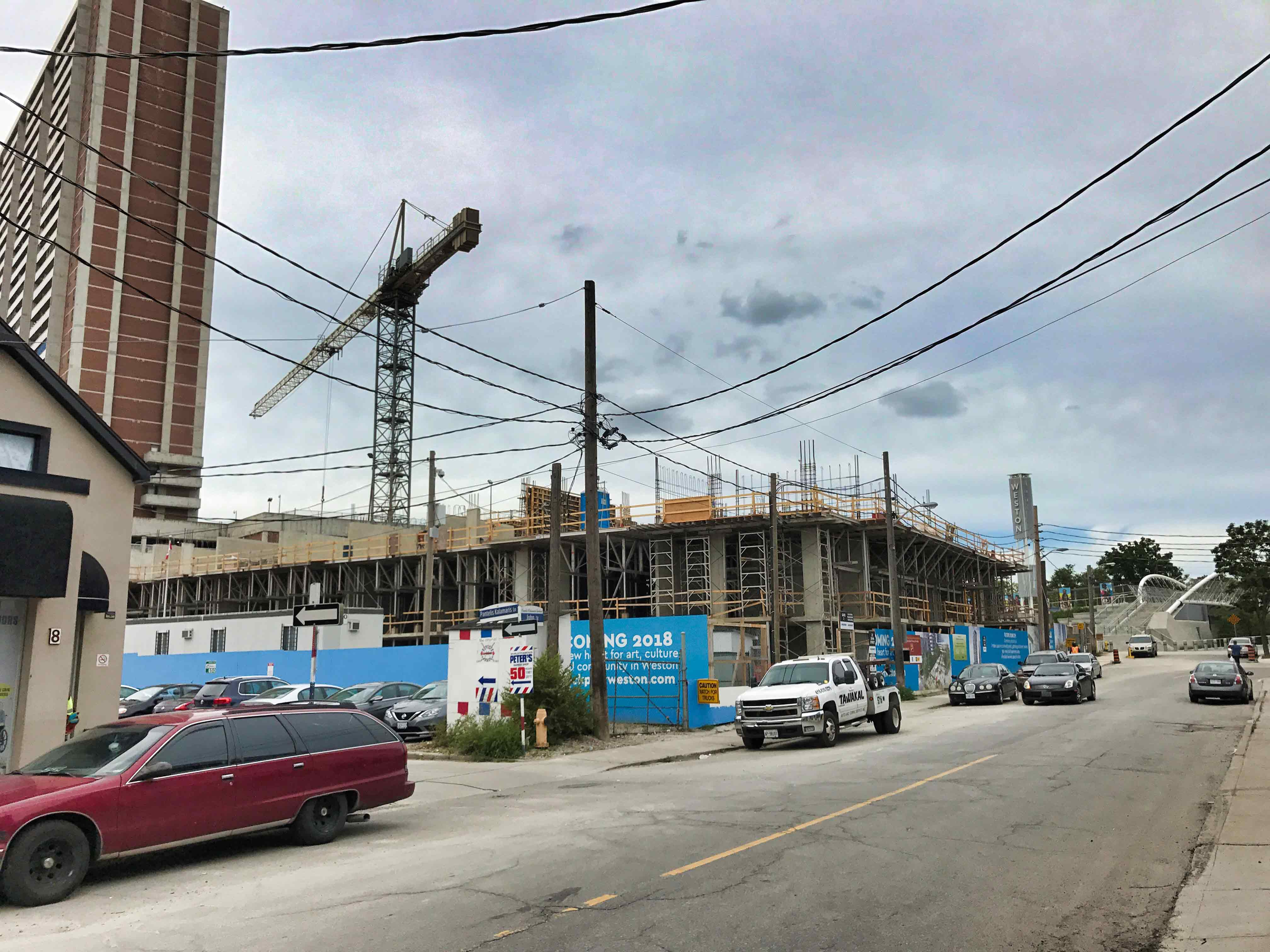 Artscape Weston Wiring Diagram The Hub Is Taking Shape Along John Street And First Couple Of Floors Complex Are In Place Pedestrian Bridge Visible On