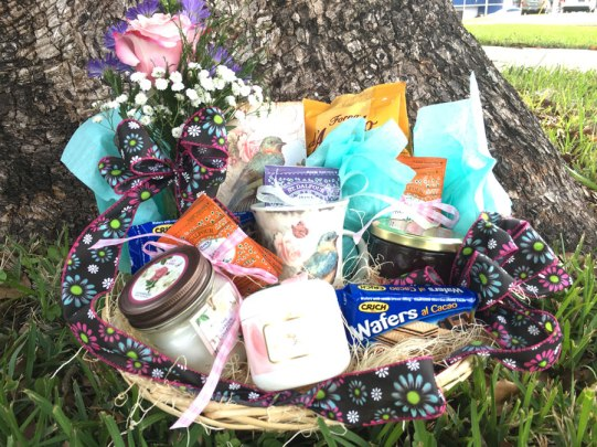 Customized to fit your needs, scented candles, tea mugs, cookies, lotions, tea, tea towels, and much more! $65 and up