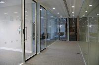 Office glass doors design and timber doors