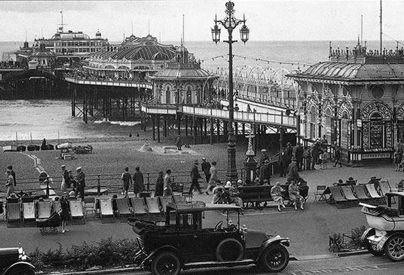 The West Pier in its heyday