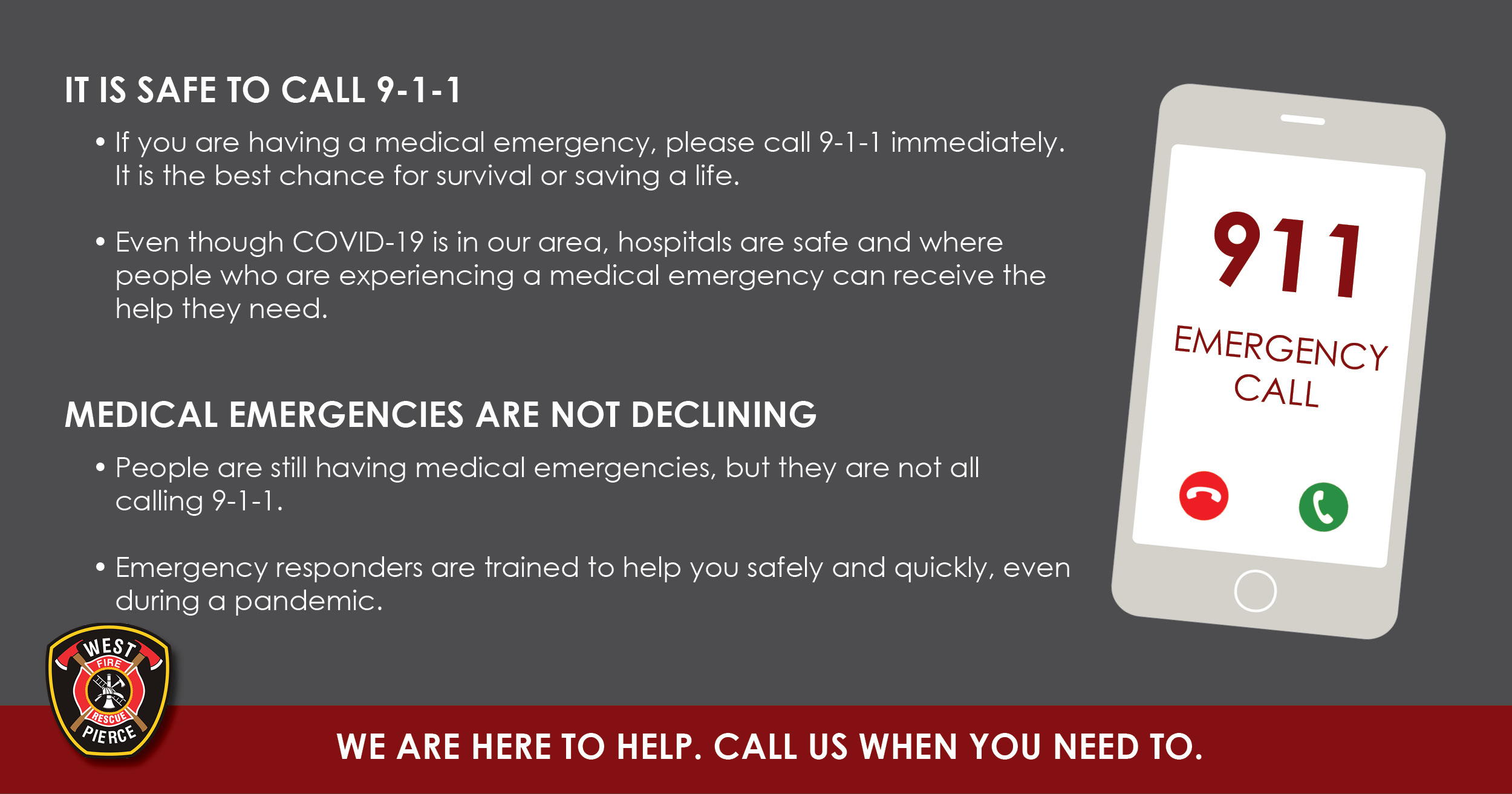 It is Safe to call 9-1-1
