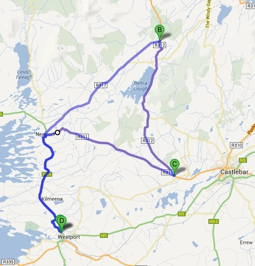 Mayo Champs 2013 route