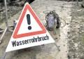 Vollsperrungen durch Wasserrohrbruch in Eckersbach