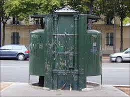 old european street toilet