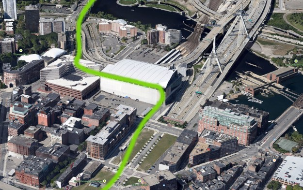 Stadium - boston with green line