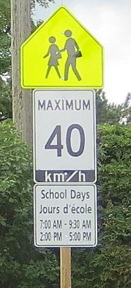 hours of school sign