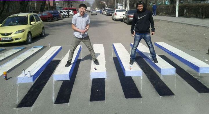 3d crosswalk in india