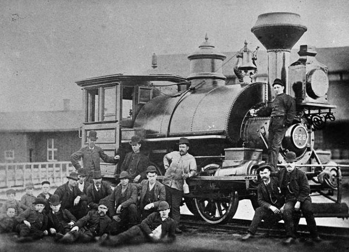 st lawrence railway loco 1873