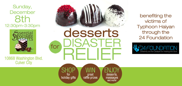 Desserts for Disaster Relief - benefiting the victims of Typhoon Haiyan through the 24 Foundation