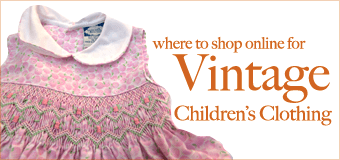 Shopping for Kid's Vintage Online and Link to Focus Magazine Article