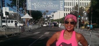 I ran the Kickin' Cancer 5K today!