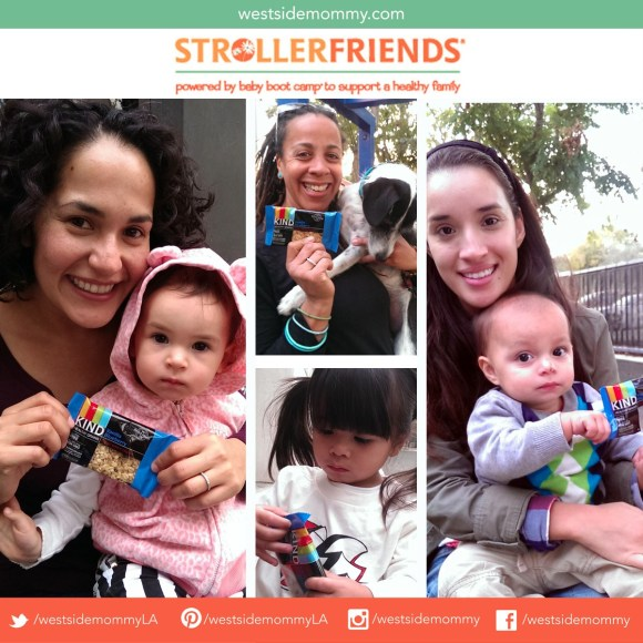 Kind Bars giveaway at the Strollerfriends Baby Boot Camp play date