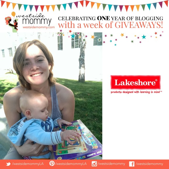 Megan, winner of Lakeshore Learning game