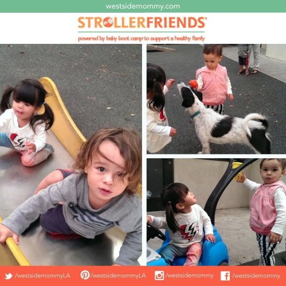 Kids at the Strollerfriends Baby Boot Camp play date