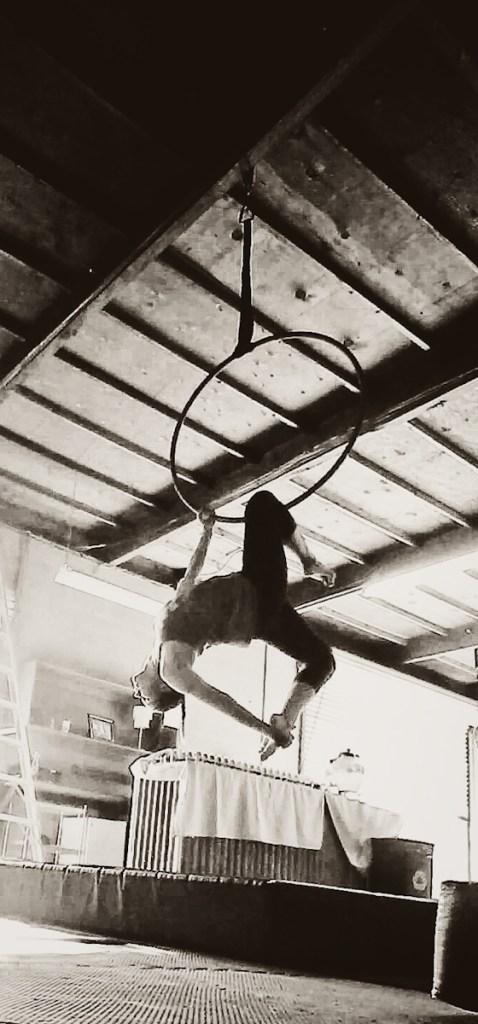 Elizabeth on the hoop
