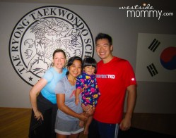 My friend Jonna, who introduced me to this place, Master Quan, my daughter, and me