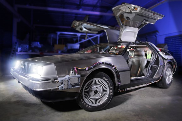 Back to the Future DeLorean Comes to the Petersen Automotive Museum - FR...