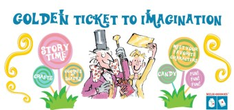 Golden Ticket to Imagination Milk + Bookies event at The Grove