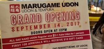 MARUGAME UDON Opens on the Westside September 14th