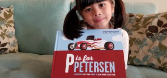 """P is for Petersen"" Alphabet book about cars, enjoyable for kids and parents alike"
