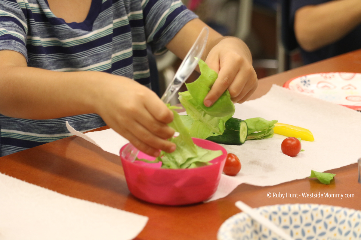 Cooking with Kids: Salad and Knife Skills Lesson