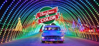 Christmas in Color Drive-Thru at Raging Waters in San Dimas