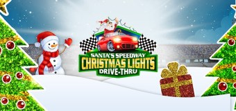 Santa's Speedway Christmas Lights Drive-Thru Spectacular at The Irwindale Speedway and Events Center