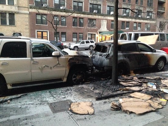 West Side Rag CHRISTMAS TREE FIRE BURNS CARS ON 79TH STREET