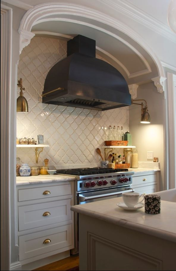 brick backsplash in kitchen fluorescent light covers for arabesque tile - | westside and stone