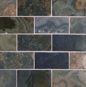 Green Gold Honed Slate Tile