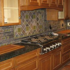 Slate Backsplash In Kitchen Virtual Tile Westside And Stone With Glass