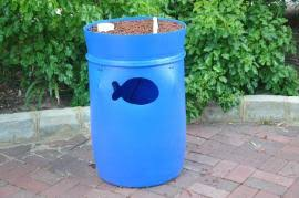 Aquaponics 101 - Styles and Types Blue Barrel system