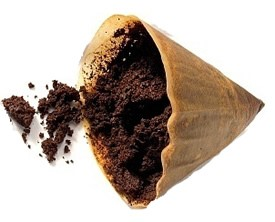 coffee grounds in filter