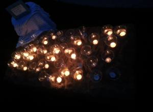 Candles from Day of Remembrance