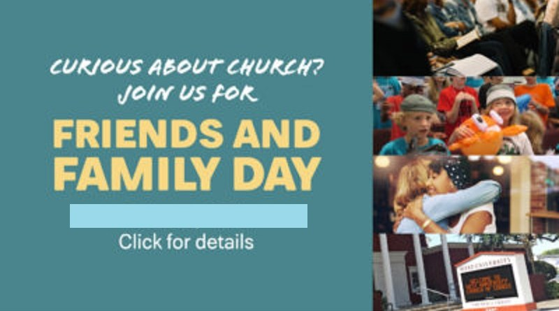 Friends and Family Day is Sept. 22