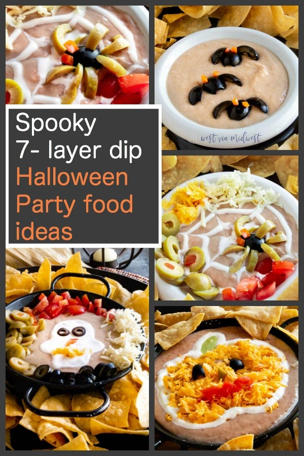 spooky 7 layer dip