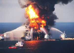 Westville News real Deepwater Horizon flames