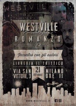 Flyer Westville News Presentazione Romanzo Milano