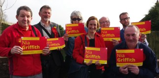 Nia Griffiths Campaigning for Llanelli
