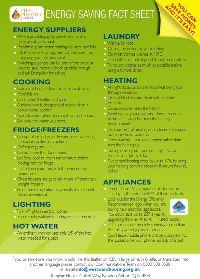 saving on heating bills | Westward