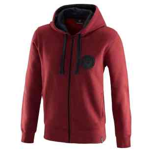 Womens red V8 hoodie