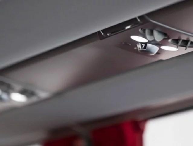 Irizar i6 interior light controls