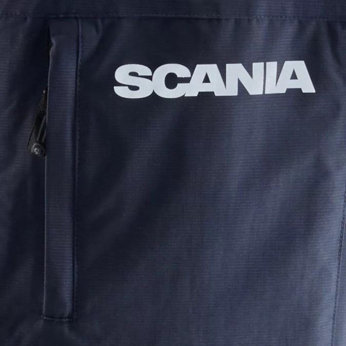 Scania Mens Navy storm jacket close up